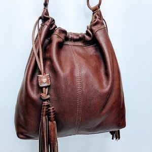 Lucky Brand Leather Cinch with Tassles